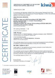 EN1090 EXC-2, ISO EN